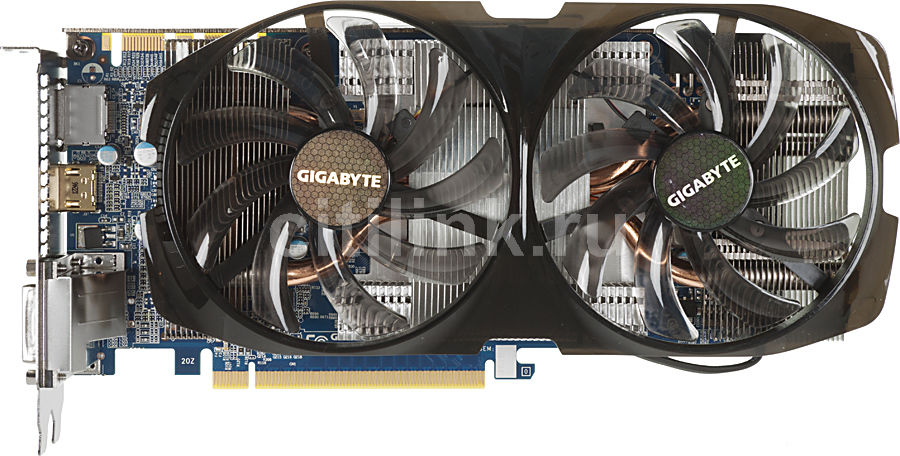 Видеокарта GIGABYTE nVidia  GeForce GTX 670 ,  2Гб, GDDR5, Ret [gv-n670wf2-2gd]