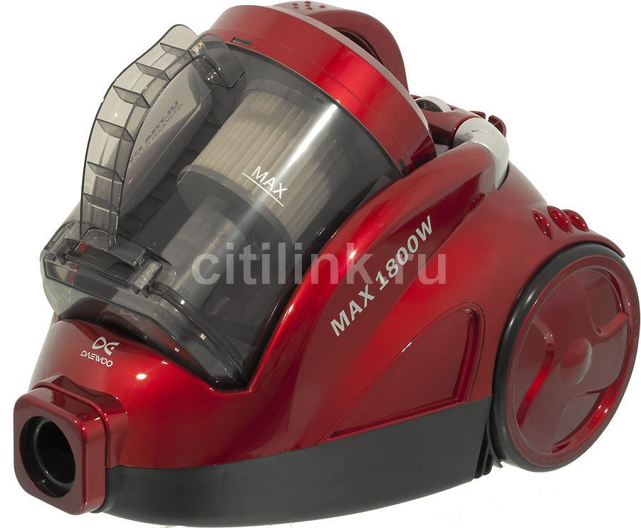 Пылесос DAEWOO RCC-612RA, 1800Вт, красный
