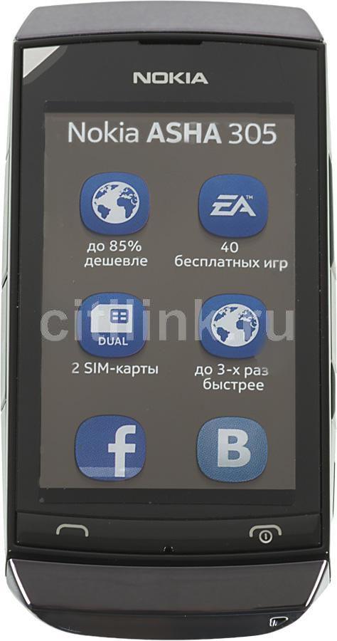Мобильный телефон NOKIA Asha 305  темно-серый