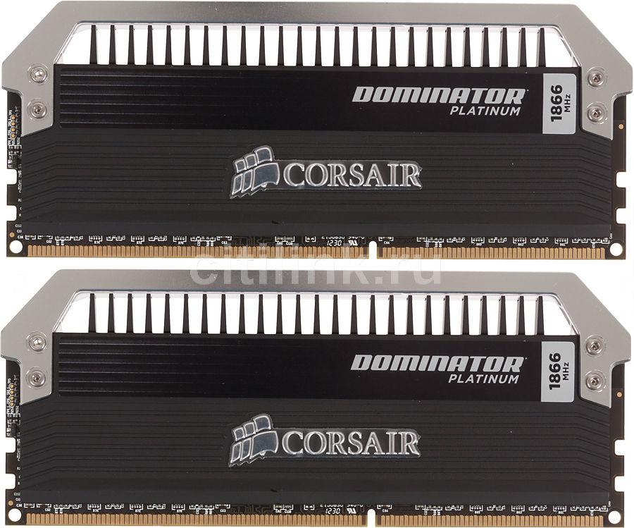 Модуль памяти CORSAIR DOMINATOR PLATINUM CMD8GX3M2A1866C9 DDR3 -  2x 4Гб 1866, DIMM,  Ret