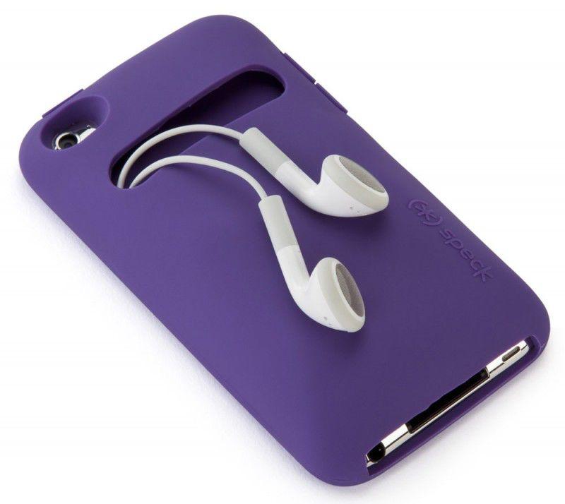 Чехол (флип-кейс) SPECK KangaSkin, для Apple iPod, фиолетовый [spk-a1356]