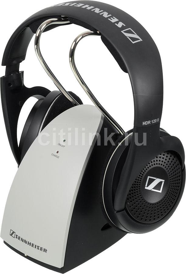 Наушники SENNHEISER RS 120-8 II, радио, накладные, черный/серебристый [504779]