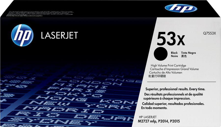 Картридж HP Q7553X черный