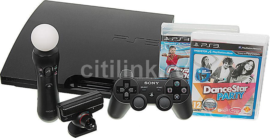 Игровая консоль SONY PlayStation 3 PS719202059, черный