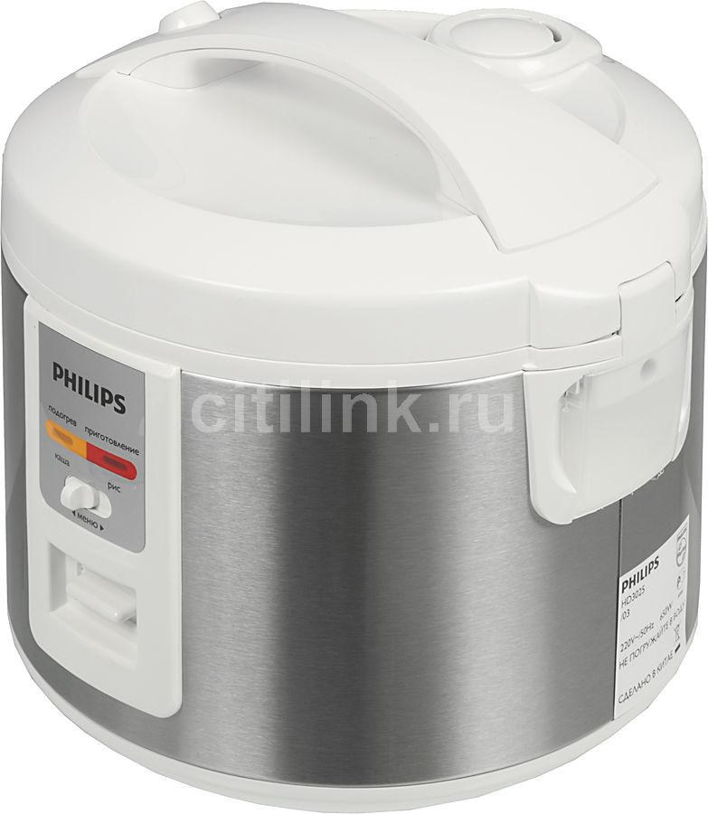 Мультиварка PHILIPS HD3025/03,  650Вт,   белый/серебристый