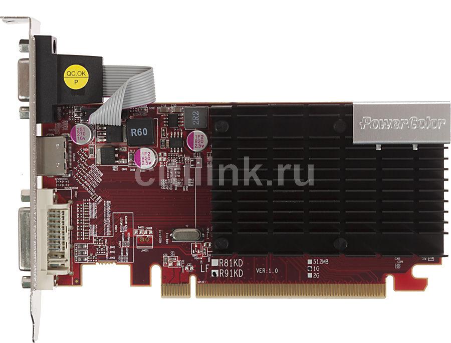 Видеокарта POWERCOLOR Radeon HD 6450,  1Гб, DDR3, Low Profile,  oem [ax6450 1gbk3-shv4]