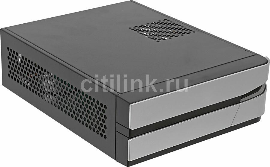 Корпус miniITX FORMULA FW-107D, HTPC, 60Вт,  черный и серебристый