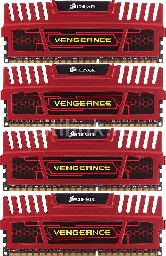 Модуль памяти CORSAIR Vengeance CMZ32GX3M4X1866C10R DDR3 -  4x 8Гб 1866, DIMM,  Ret