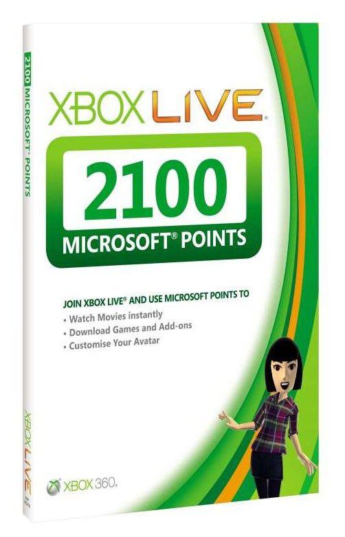 Карта оплаты MICROSOFT Xbox 360 Live Points 2100, для  Xbox