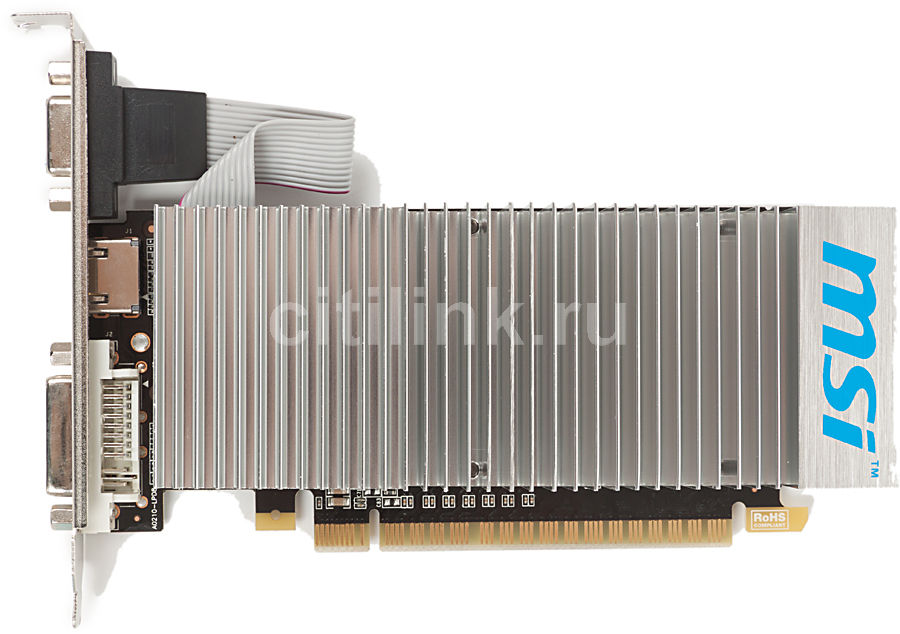 Видеокарта MSI GeForce 210,  1Гб, DDR3, Low Profile,  oem [n210-md1gd3h/lp bulk]