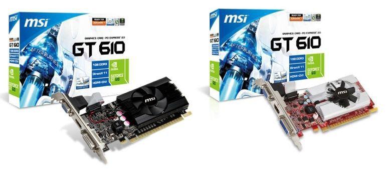 Видеокарта MSI GeForce GT 610,  1Гб, DDR3, Low Profile,  oem [n610gt-md1gd3/lp]