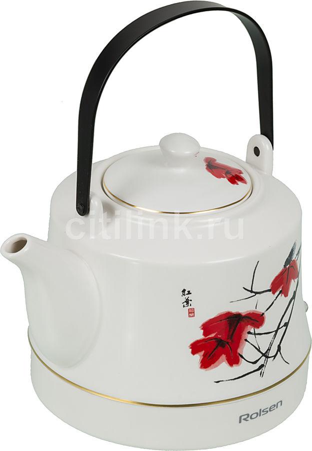 Чайник электрический ROLSEN RK-1050CR, 1200Вт, белый