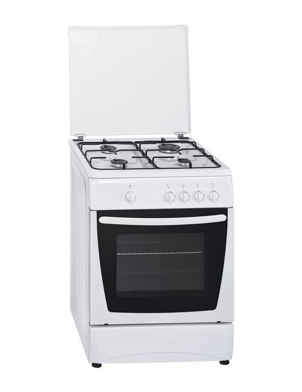 Газовая плита SIMFER 6401 NG,  газовая духовка,  белый