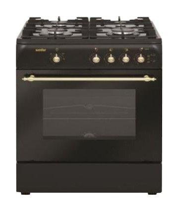 Газовая плита SIMFER 9502 ZG,  газовая духовка,  черный