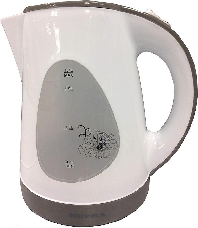 Чайник электрический SUPRA KES-1708, 2200Вт, белый