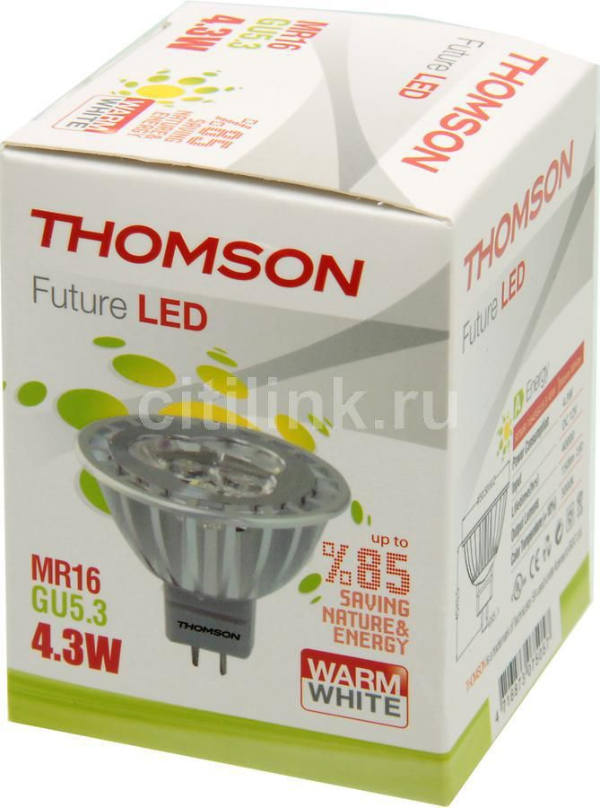 Лампа THOMSON RTMR-1643GU5.3-WW, 4.3Вт, 150lm, 40000ч,  3000К, GX5.3,  1 шт.