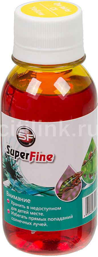 Чернила  SuperFine, для Canon, 100мл, желтый
