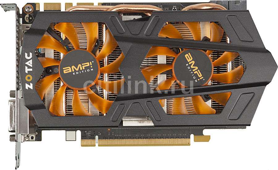 Видеокарта ZOTAC GeForce GTX 660 Ti AMP! Edition,  ZT-60803-10P,  2Гб, GDDR5, OC,  Ret
