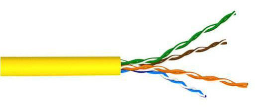 Кабель LANMASTER (LAN-5EUTP-PT-YL) патч-кордовый UTP. 4x2. кат 5E. 200Mhz. PVC. желтый