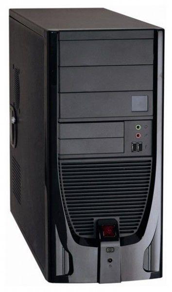 Корпус ATX FOXCONN TPS-841, 400Вт,  черный и серебристый
