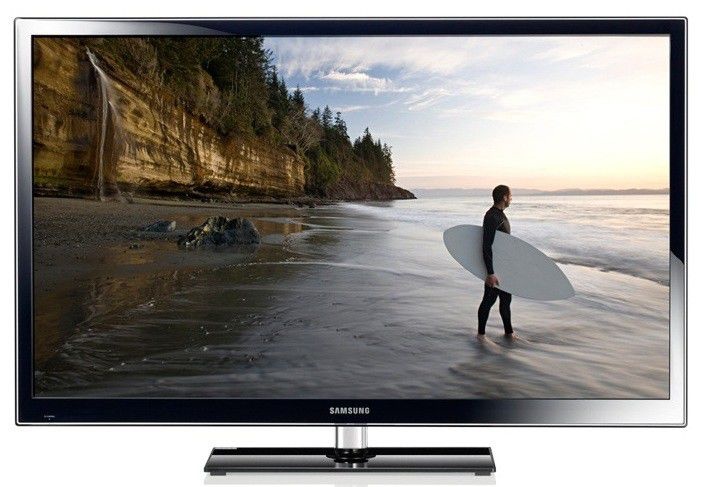 "Плазменный телевизор SAMSUNG PS60E557D1K  ""R"", 60"", 3D,  FULL HD (1080p),  черный"