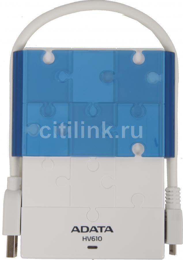 Внешний жесткий диск A-DATA DashDrive HV610, 1Тб, белый [ahv610-1tu3-cwhbl]