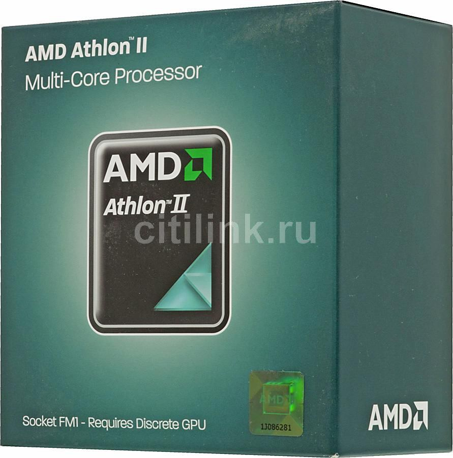 Процессор AMD Athlon II X4 641, SocketFM1 BOX [ad641xwngxbox]