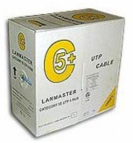 Кабель информ. Lanmaster (LAN-5EUTP-GY) кат.5е U/UTP 4X2X24AWG PVC внутр. 305м сер.
