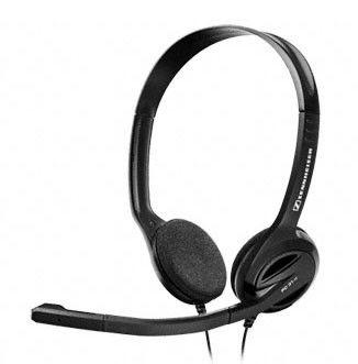 Наушники с микрофоном SENNHEISER PC31-II,  504522,  накладные, черный