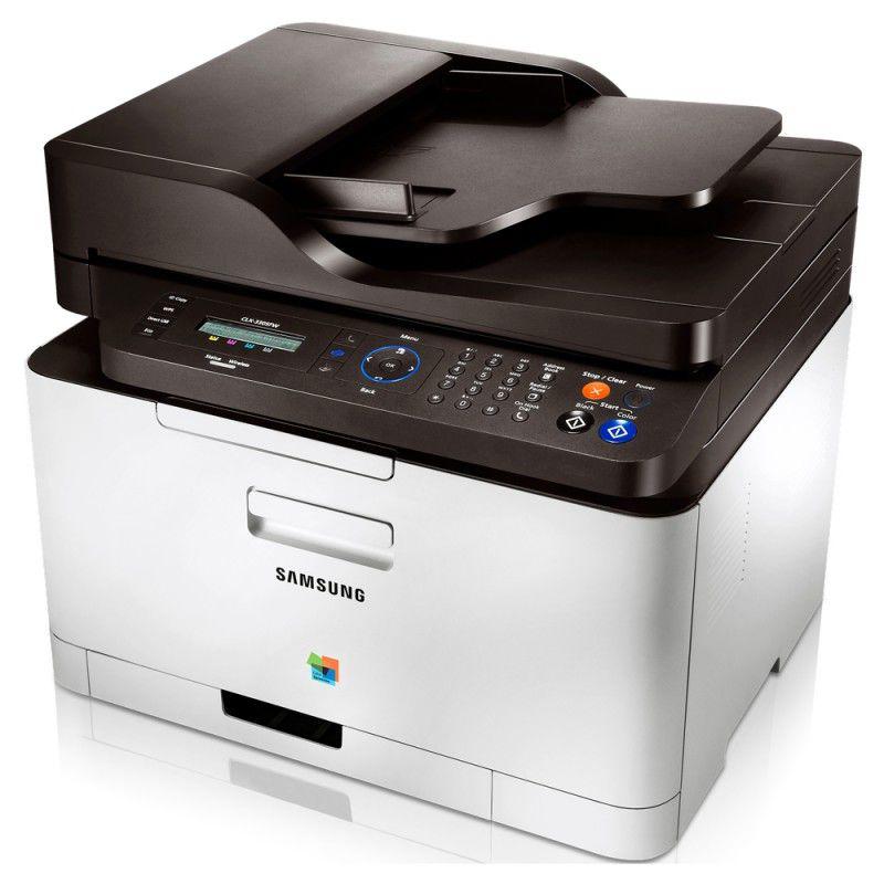 МФУ SAMSUNG CLX-3305FW/XEV,  A4,  цветной,  лазерный,  белый