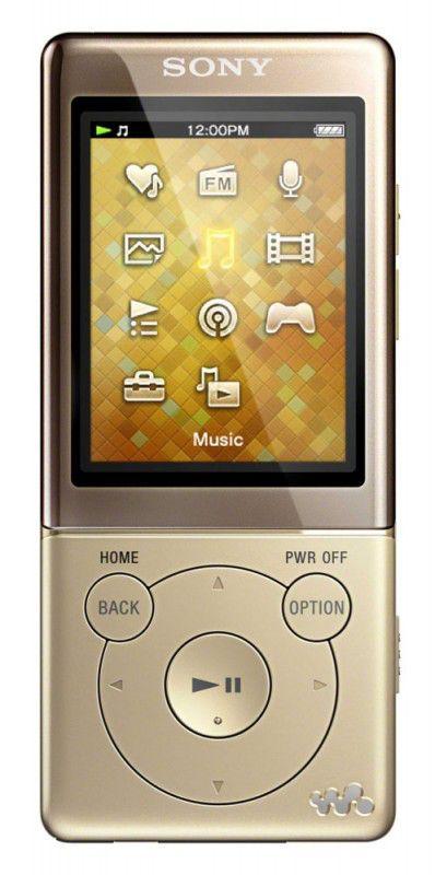 MP3 плеер SONY NWZ-E473N flash 4Гб золотистый [nwze473n.ee]