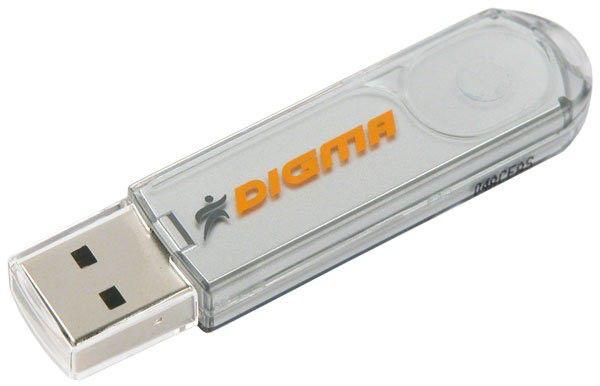 Флешка USB DIGMA Pen Drive PD2 2Гб, USB2.0, белый