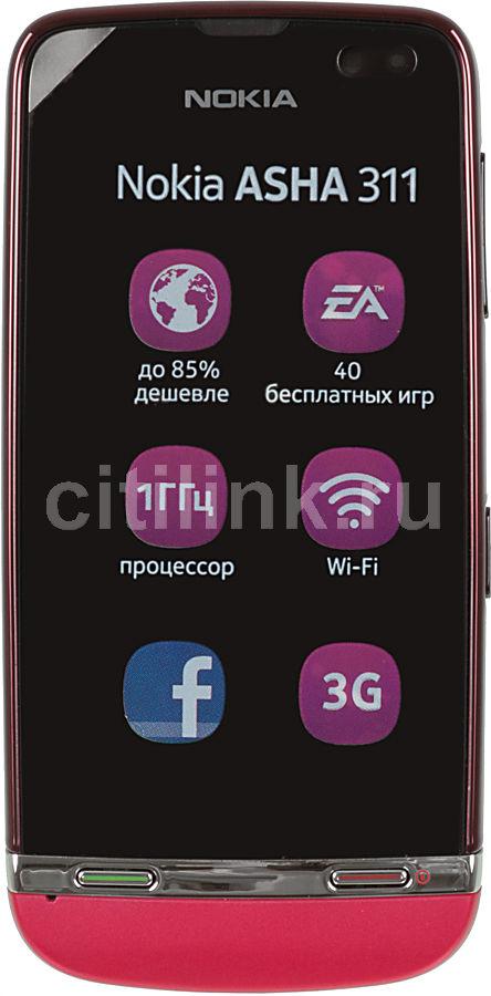 Мобильный телефон NOKIA Asha 311 красный/розовый