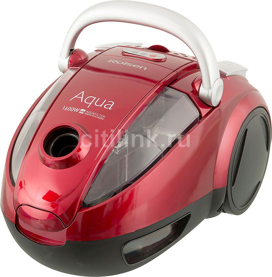 Пылесос ROLSEN T-2560TSW, 1600Вт, красный