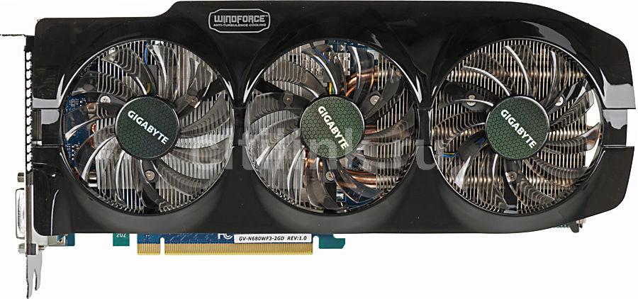 Видеокарта GIGABYTE GeForce GTX 680,  2Гб, GDDR5, Ret [gv-n680wf3-2gd]