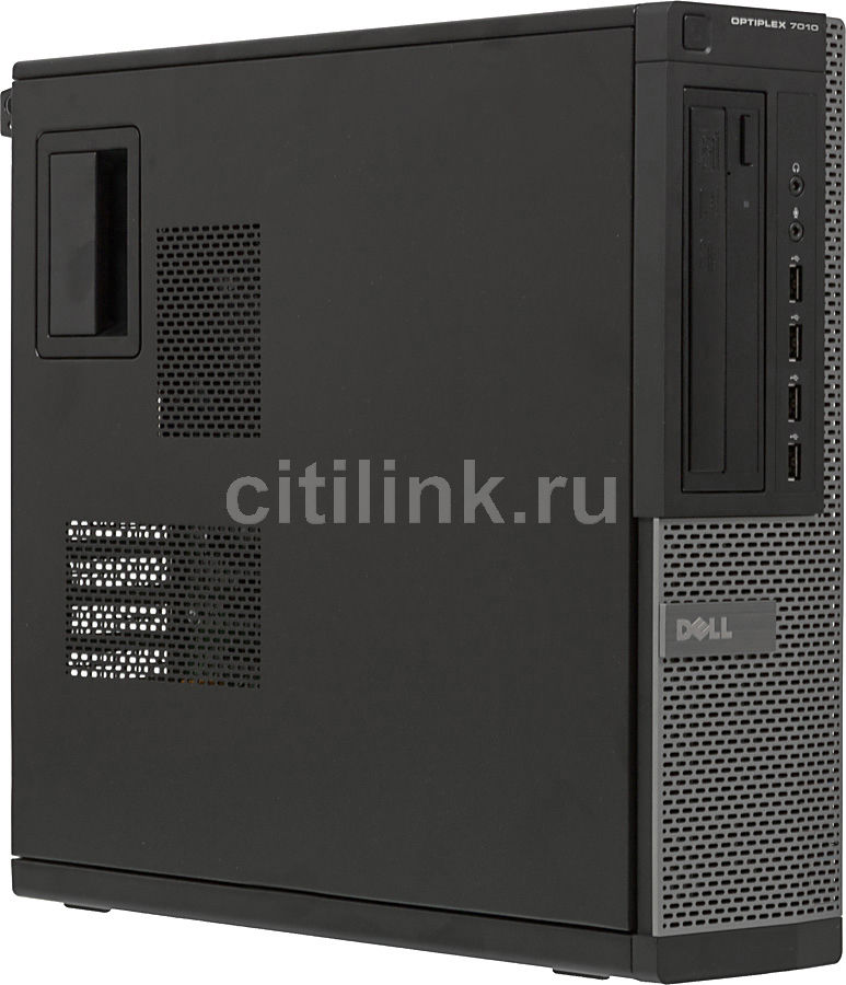 Компьютер  DELL Optiplex 7010 DT,  Intel  Core i5  3550,  DDR3 4Гб, 500Гб,  Intel HD Graphics,  DVD-RW,  CR,  Free DOS,  черный и серебристый [x077010101r]