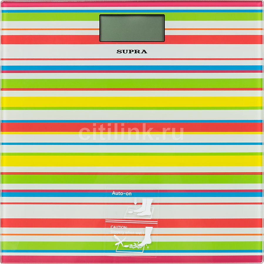 Весы SUPRA BSS-2080, до 150кг, цвет: белый/рисунок [1240]