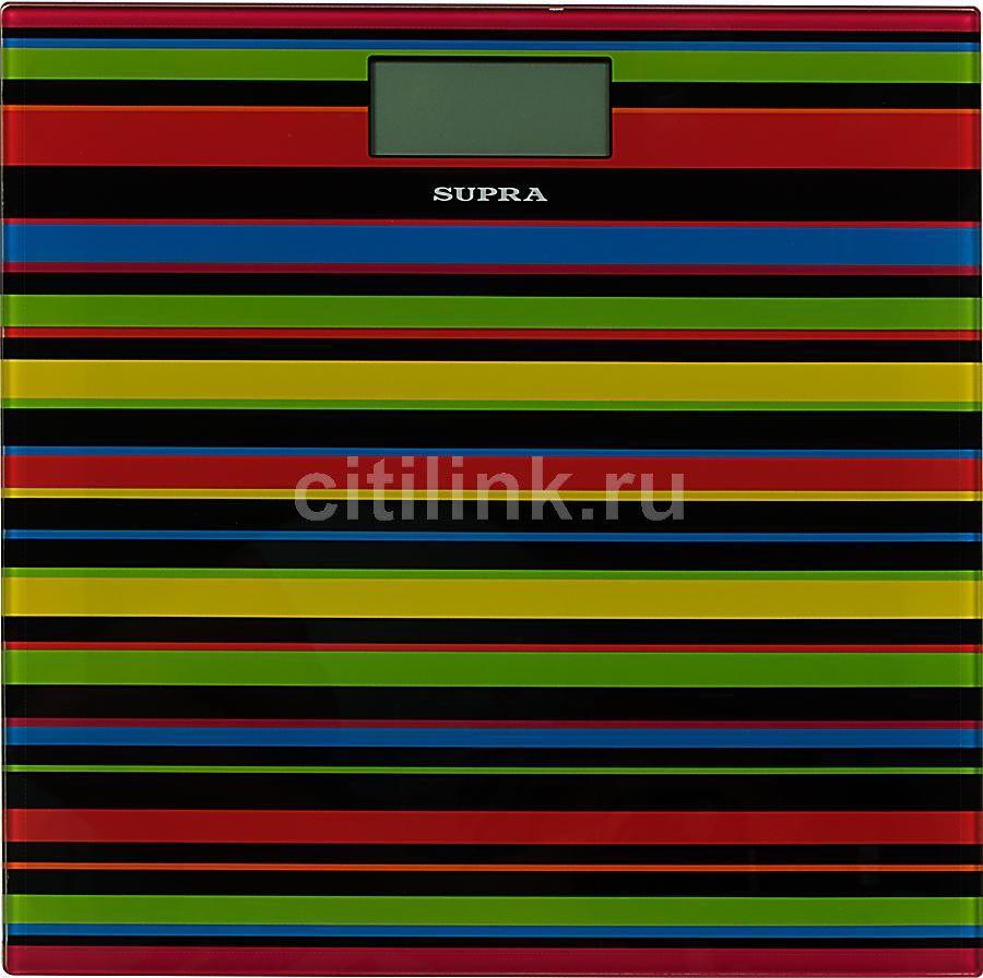 Весы SUPRA BSS-2080, до 150кг, цвет: черный/рисунок [1239]