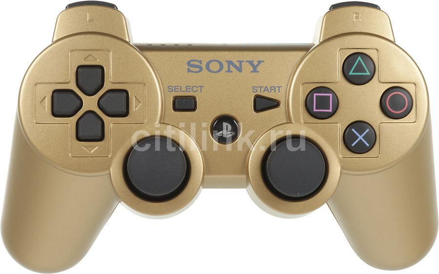 Беспроводной контроллер SONY Dualshock 3, для  PlayStation 3, золотистый [ps719256533]