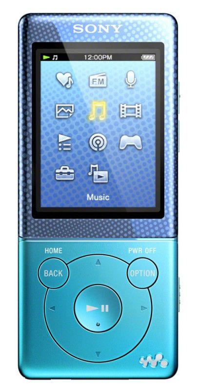 MP3 плеер SONY NWZ-E473 flash 4Гб голубой [nwze473l.ee]