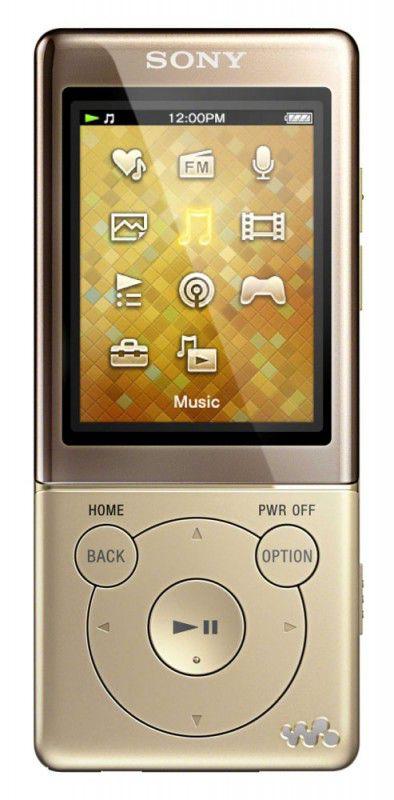 MP3 плеер SONY NWZ-E474 flash 8Гб золотистый [nwze474n.ee]