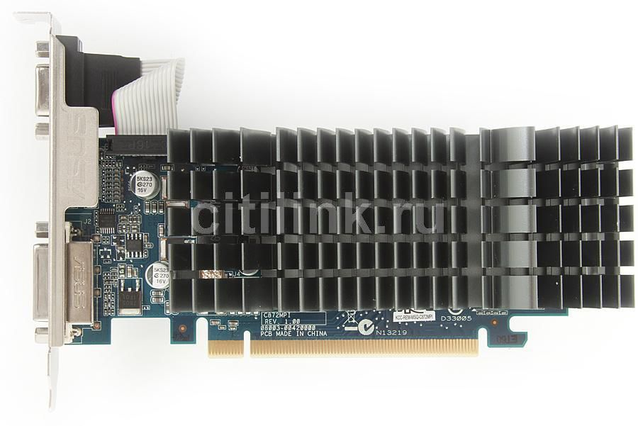 Видеокарта ASUS GeForce 210,  210-SL-TC1GD3-L,  512Мб, DDR3, Low Profile,  Ret