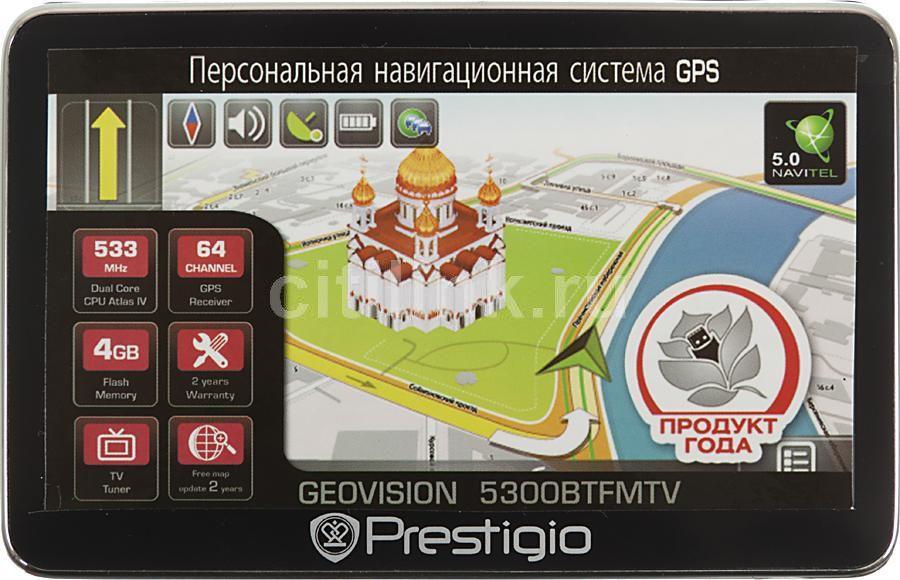 GPS навигатор PRESTIGIO 5300BTFMTV,  5