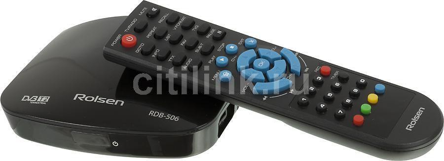 Ресивер DVB-T2 ROLSEN RDB-506,  черный