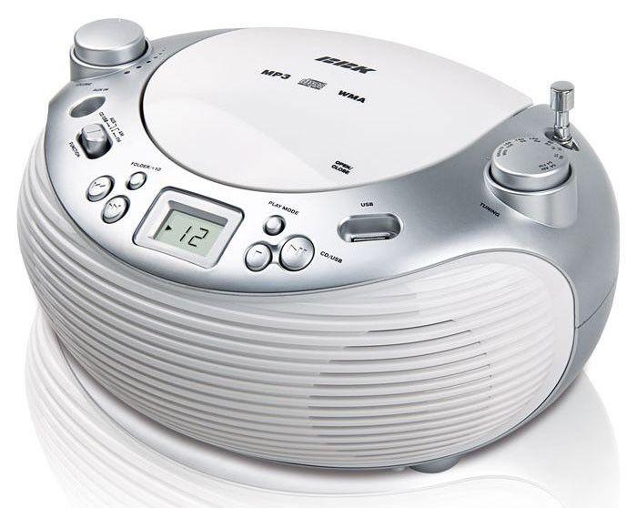 Аудиомагнитола BBK BX101U,  белый