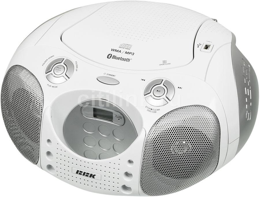 Аудиомагнитола BBK BX110BT,  белый