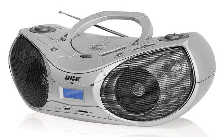Аудиомагнитола BBK BX514U,  серебристый и черный