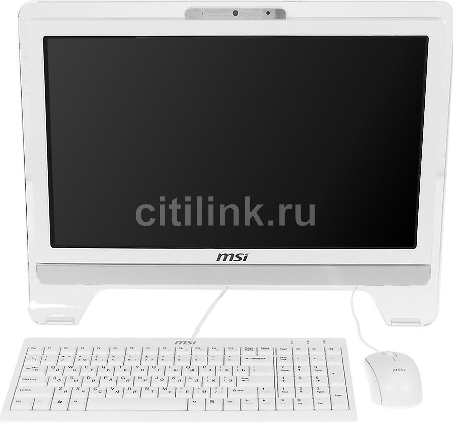 Моноблок MSI AE2081G-004RU, Intel Core i3 3220, 4Гб, 500Гб, nVIDIA GeForce GT630 - 2048 Мб, DVD-RW, Windows 7 Home Premium, белый [9s6-aa5912-004]