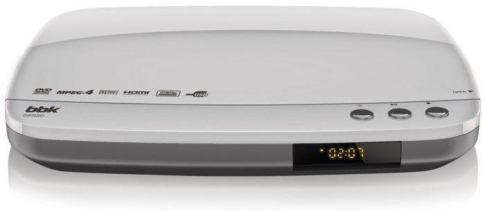 DVD-плеер BBK DVP752HD,  серебристый,  диск 500 песен