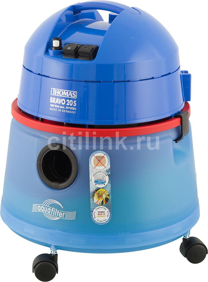 Моющий пылесос THOMAS Bravo 20S Aquafilter, 1600Вт, синий/красный